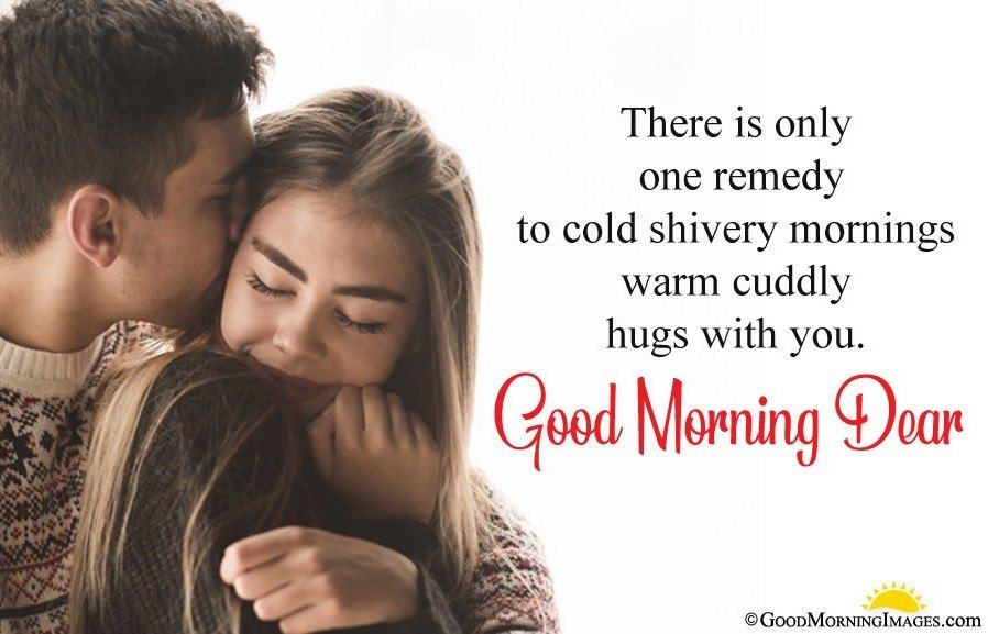 Sweet Good Morning Wishes For Girlfriend With Hd Couple Image