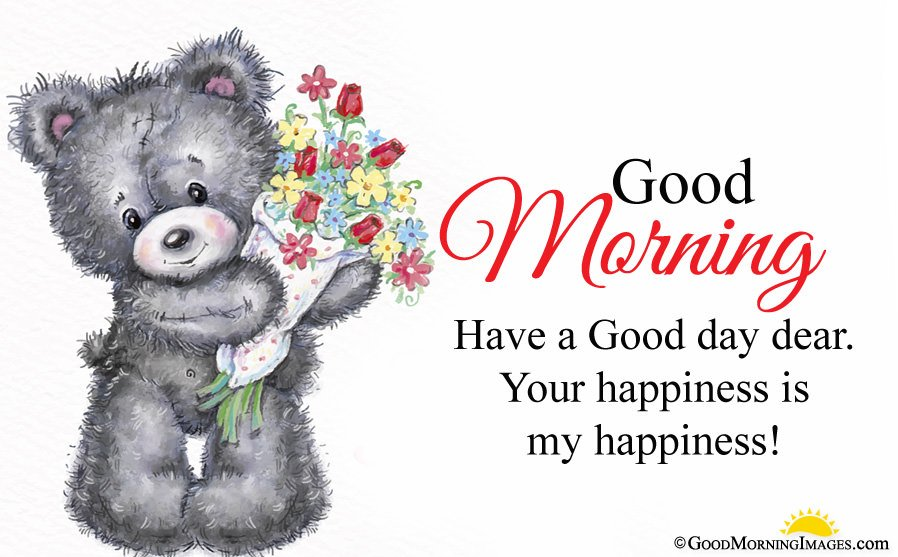 Sweet Teddy Bear Picture With Have a Good Day Sms