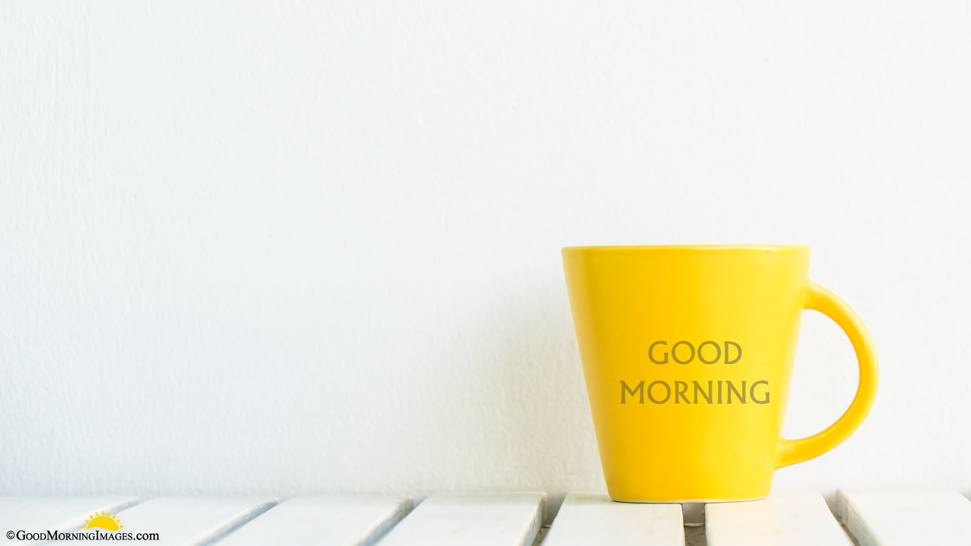 Yellow Mug Full HD Good Morning Picture