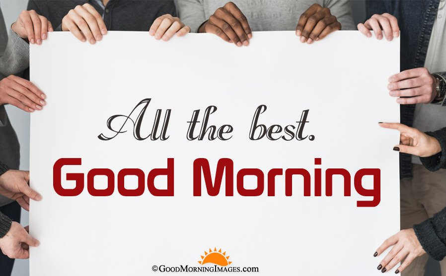 All The Best Good Morning Greeting Wallpaper