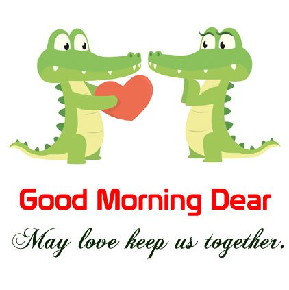 Animated Crocodile Couple Good Morning Love Image DP