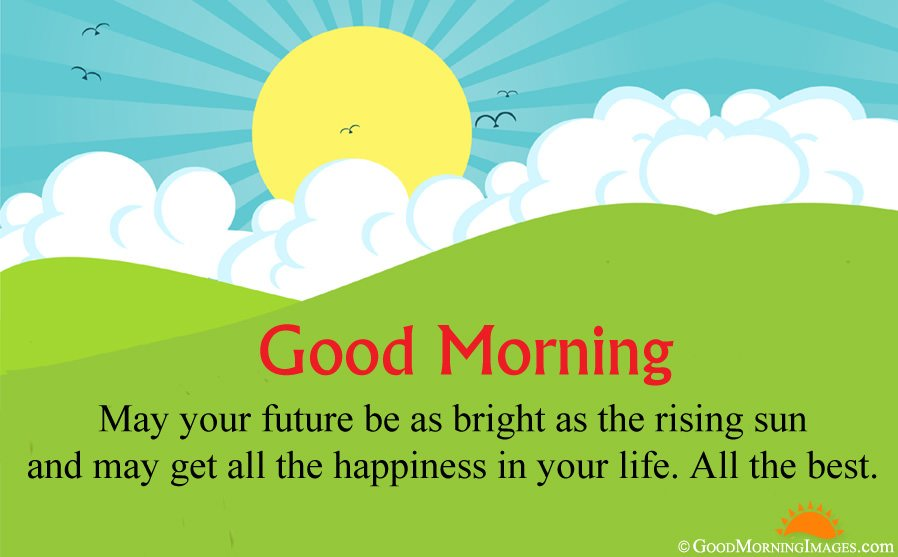 Animated Sunrise HD Wallpaper With All The Best Good Morning Message