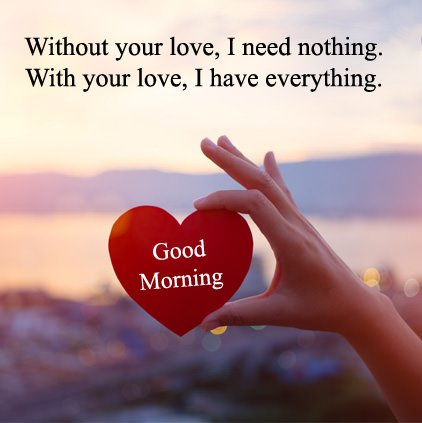 Beautiful Good Morning Love Wishes DP Picture