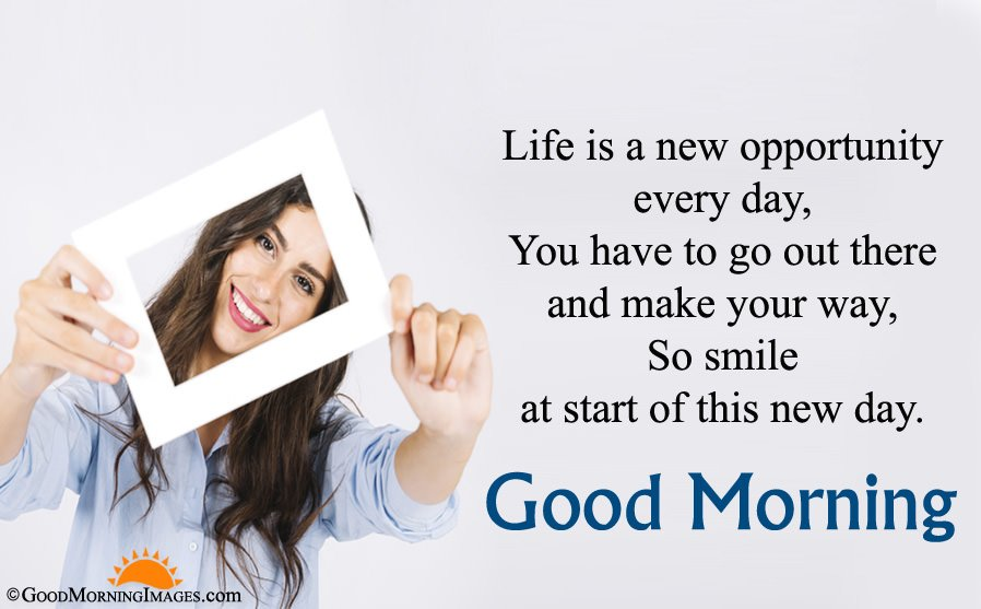 Best Good Morning Inspirational Life Quote With HD Wallpaper