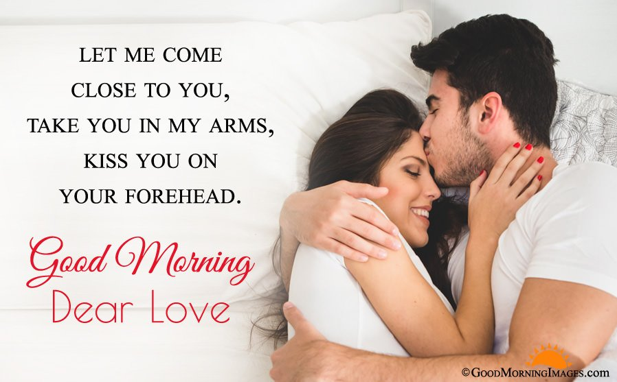 Best Romantic Wishes With Good Morning Love Couple Image