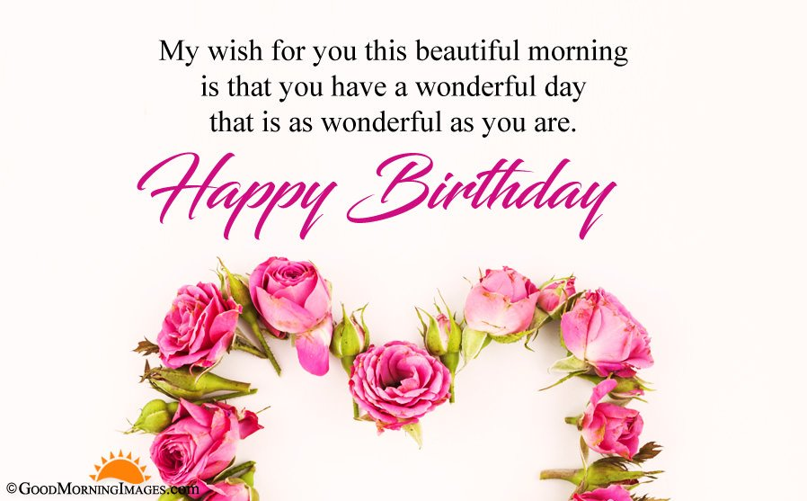 Birthday Morning Wishes With Full HD Size Wallpaper