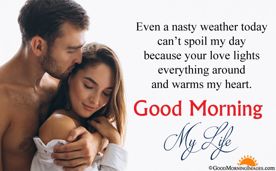 Full HD Good Morning Couple Love Image With Wishes Quote