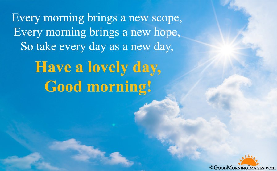 Full HD Morning Background With Inspirational Good Morning Quote