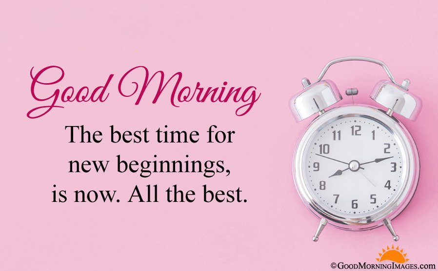 Good Morning All The Best Quote Msg With Full HD Alarm Clock Wallpaper