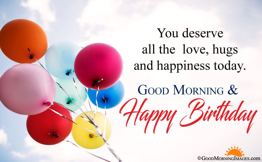 Good Morning And Happy Birthday Message With Full HD Wallpaper