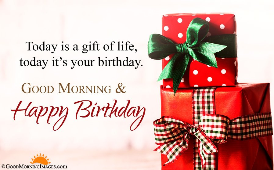 Good Morning And Happy Birthday Wishes With HD Image
