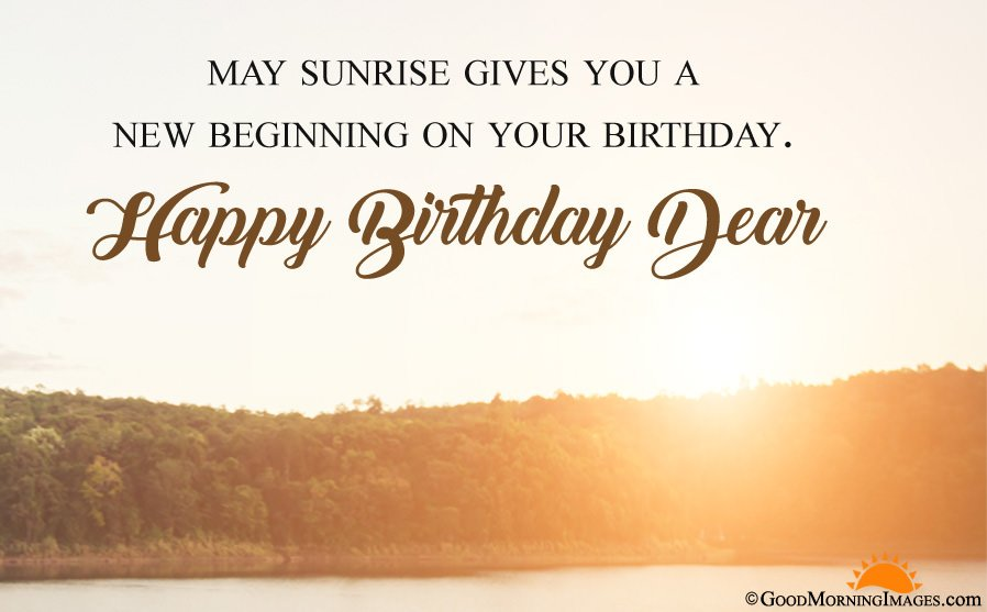 Good Morning Birthday Wishes With Full HD Sunrise Image