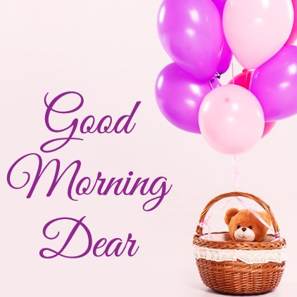 Good Morning Dear Cute Teddy Wallpaper Picture