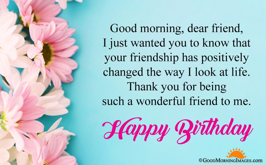 Good Morning Happy Birthday Greeting Wishes Wallpaper