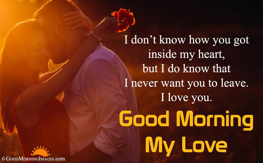 Good Morning I Love You HD Image With Message