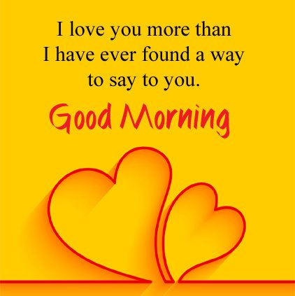 Good Morning I Love You Message With Image
