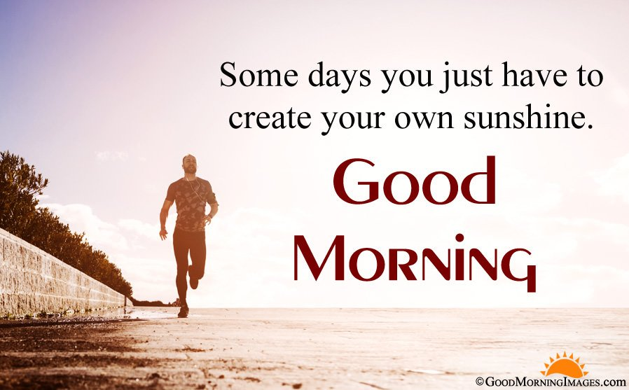 Good Morning Inspirational Message With Full HD Wallpaper