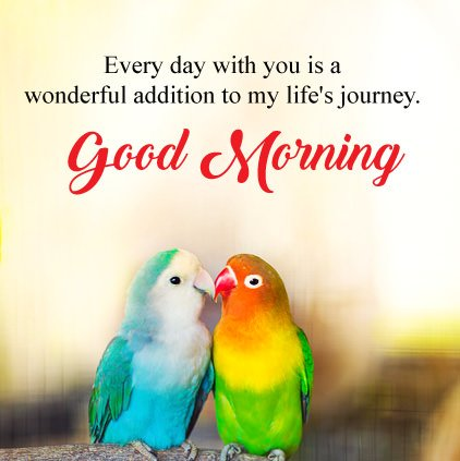 Good Morning Love Birds Image With Wishes