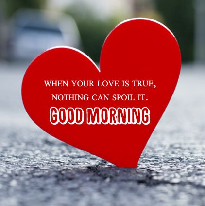 Good Morning Love Wishes Heart Image