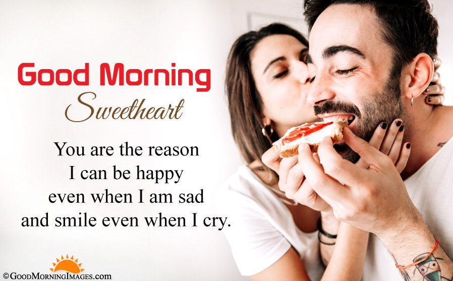 Good Morning Sweetheart Love Wishes Message With HD Wallpaper