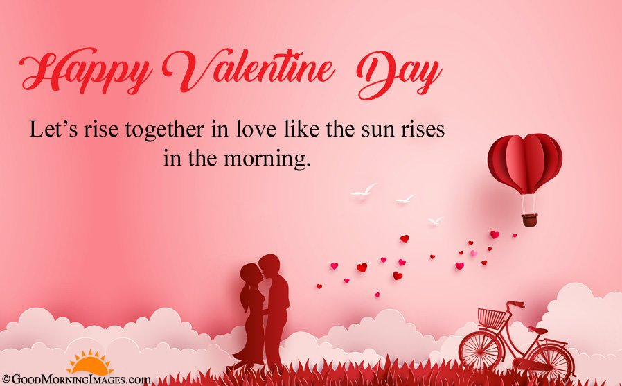 Good Morning Valentine Day Love Wishes With HD Wallpaper