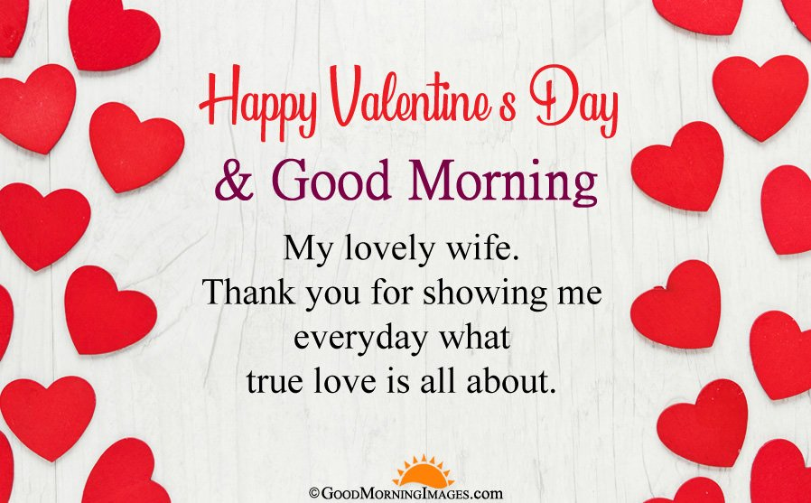 Good Morning Valentine Day Wishes For Wife With Full HD Love Wallpaper