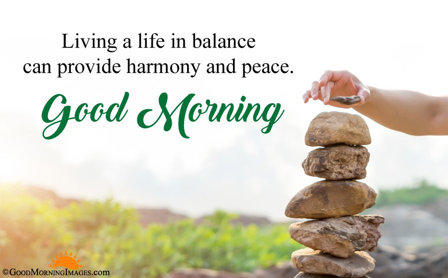 Gud Morning Peaceful Quote With Full HD Wallpaper