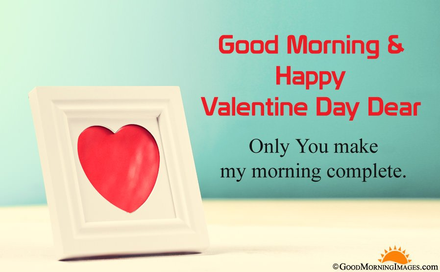 HD Good Morning Love Image For Valentine Day With Text Message