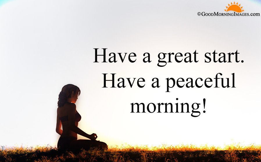 Have a Peaceful Morning Greeting Wishes With HD Wallpaper