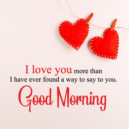 I Love You Good Morning DP Image For FB Whatsapp