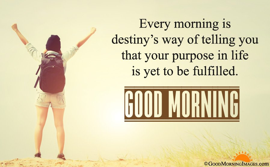 Inspirational Good Morning Quote Message With Full HD Background
