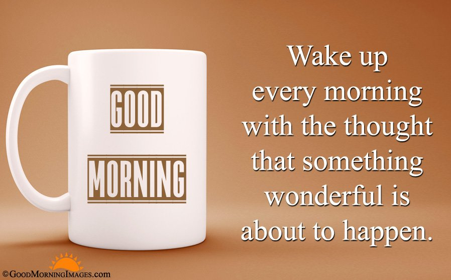 Inspirational Good Morning Quote With HD Coffee Mug Wallpaper