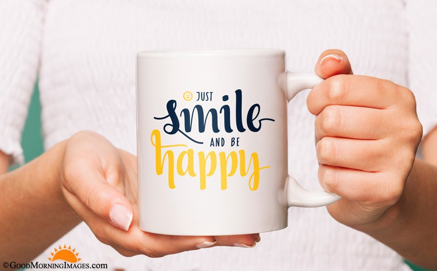 Just Smile Coffee Mug Quote HD Wallpaper
