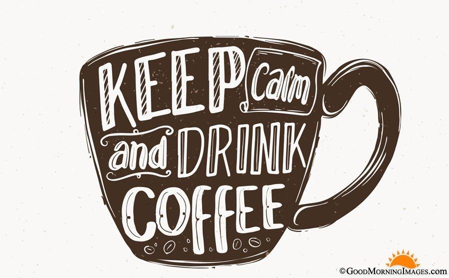 Keep Clam Drink Coffee Quote Mug HD Image