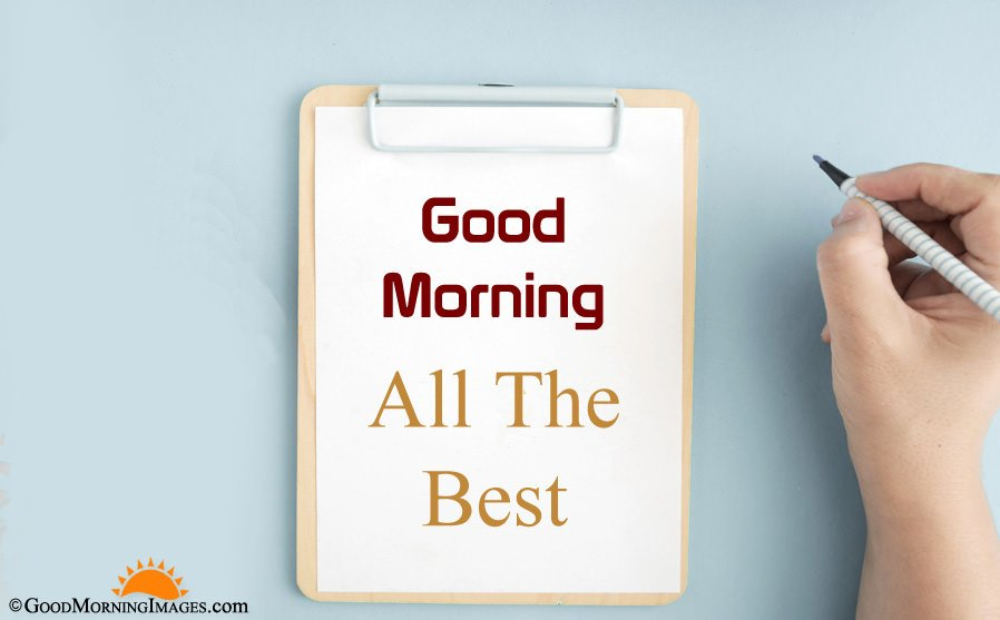 Latest All The Best Good Morning Greeting Image