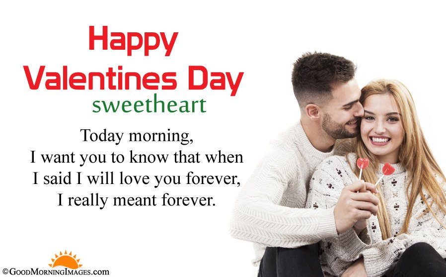 Latest Good Morning Valentine Day Wishes For Couple With Full HD Wallpaper