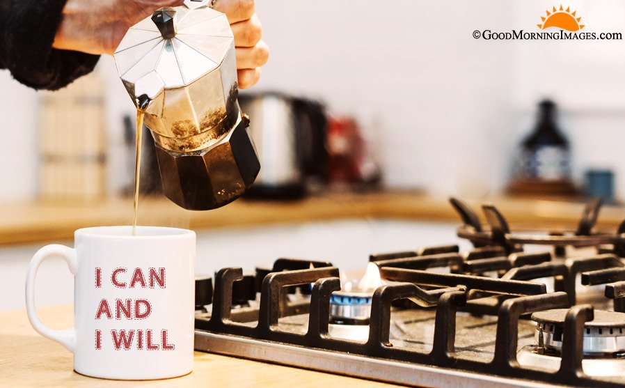 Motivational Coffee Mug Quote With HD Wallpaper