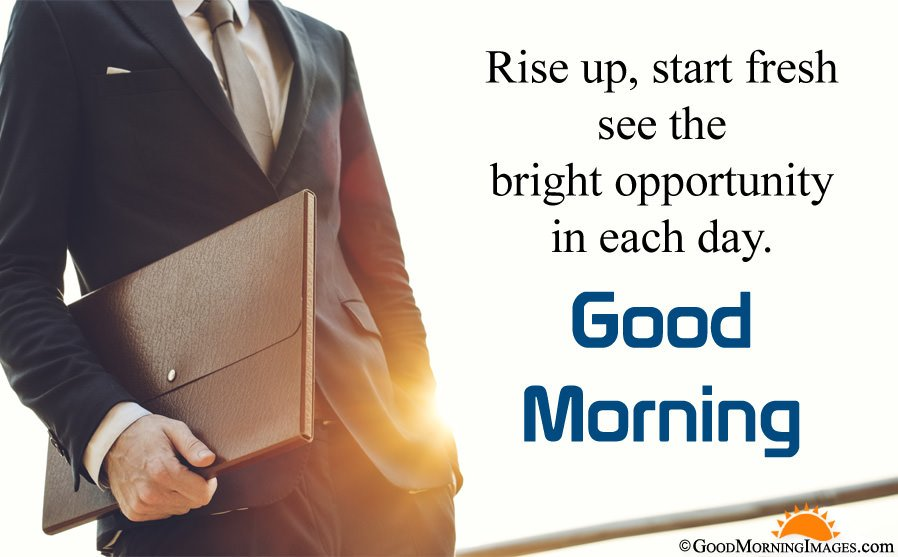 Rise Up Inspirational Quote With Good Morning HD Image