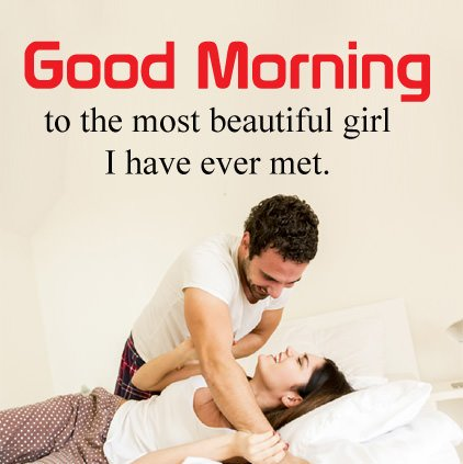 Romantic Couple Morning Love Image With Wishes