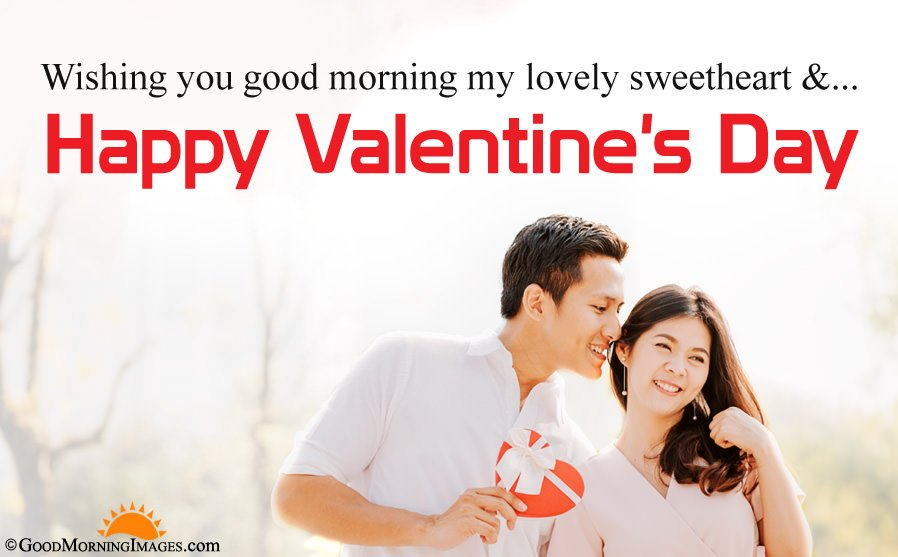 Romantic Good Morning Valentine Day Sms Message With HD Couple Picture