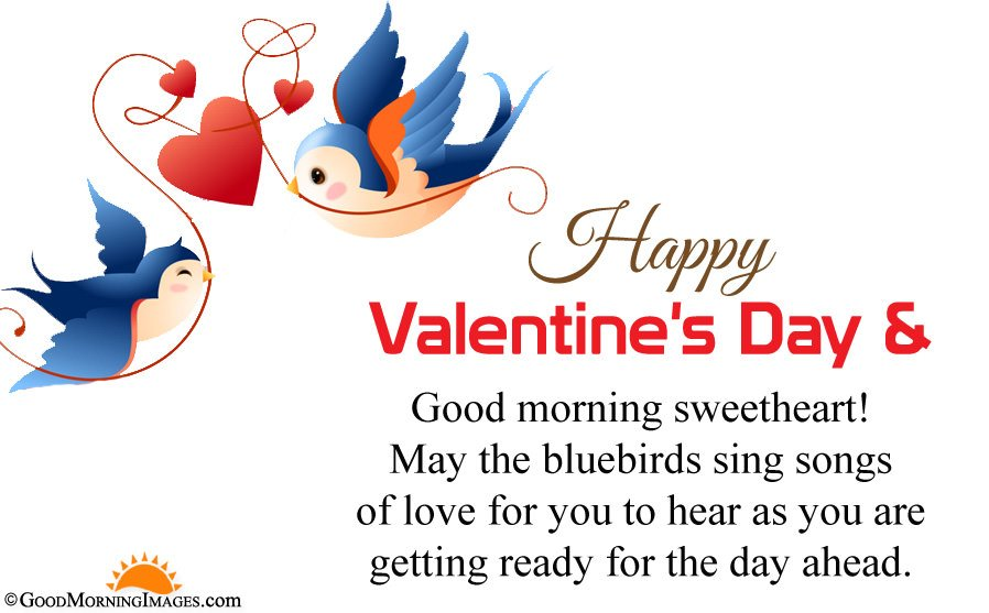 Romantic Good Morning Valentine Day Wishes Msg With HD Picture