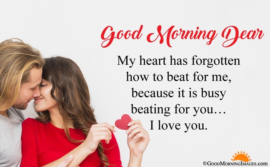Romantic I Love You Good Morning Sms Wishes For Love With Full HD Wallpaper