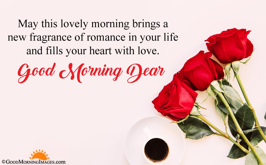 Romantic Love Good Morning Rose Picture With Wishes Sms