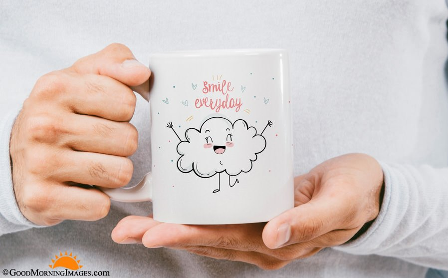 Smile Everyday Good Morning Coffee Mug Quote