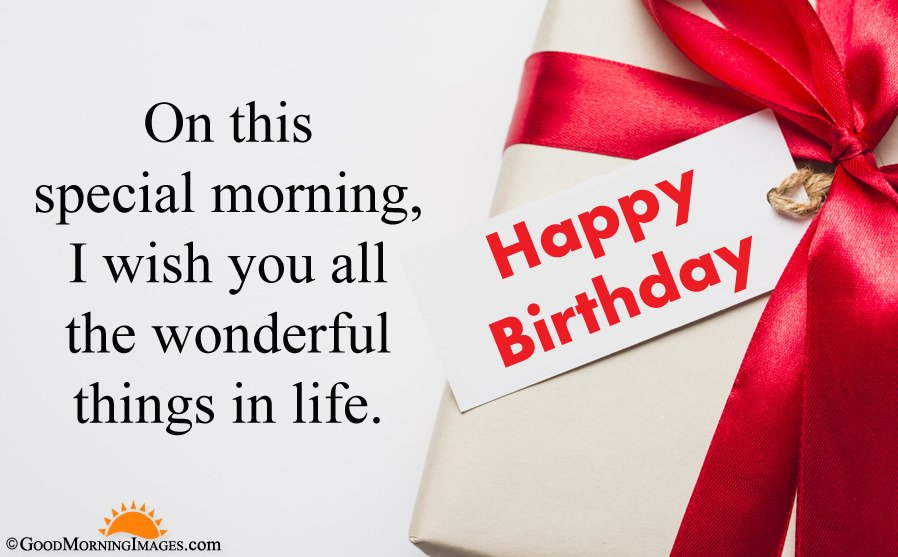 Special Birthday Morning Wishes Message With HD Gift Wallpaper