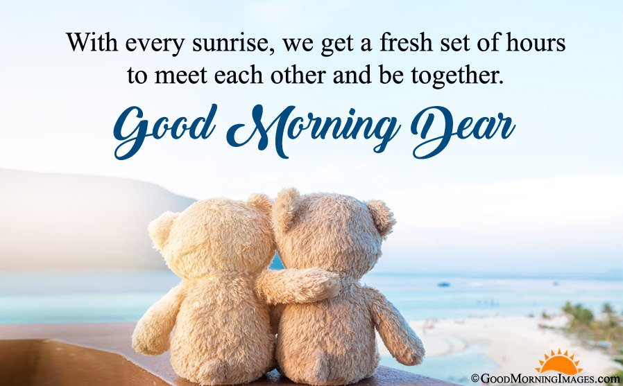 Sweet Teddy Bear Good Morning Love HD Image With Wishes Sms