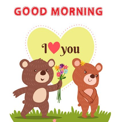 Teddy Bear Love Pair Good Morning Image DP