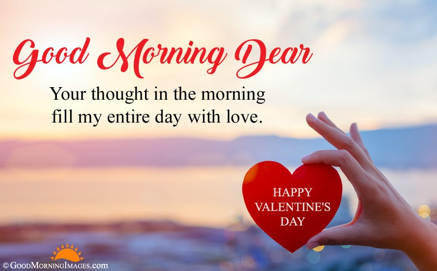 Valentine Day Good Morning HD Image With Wishes