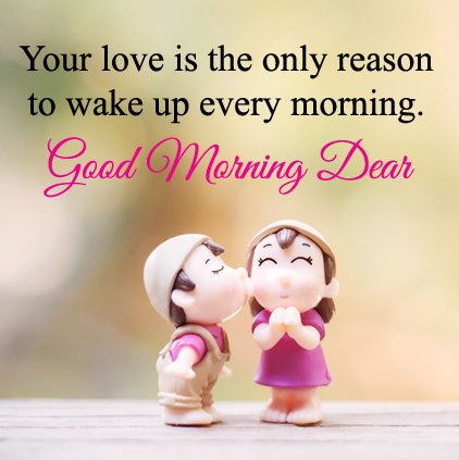 Very Cute Good Morning Love Image With Message