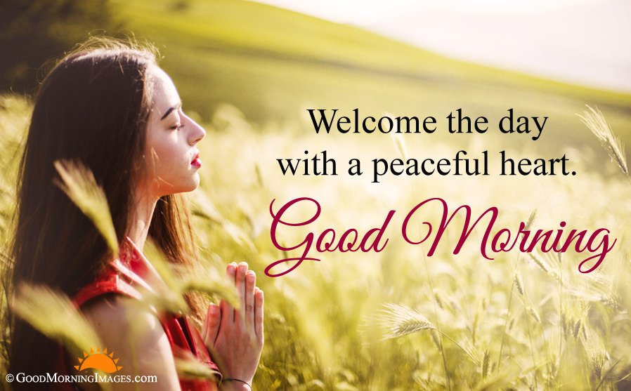 Welcome Good Morning Peaceful Wishes Quote With Full HD Image